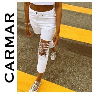 ➡️CarMar White Hermia Jean Size 25